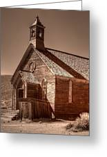 Bodie State Historic Park California Church Greeting Card
