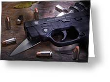 Bodyguard Concealed Carry Greeting Card by Tom Mc Nemar