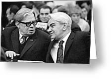 Bogolyubov And Keldysh, Soviet Scientists Greeting Card