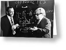Bogolyubov (right), Soviet Physicist Greeting Card by Ria Novosti