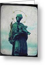 Bohemian Saint Greeting Card by Linda Woods