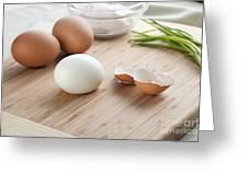 Boiled Eggs Greeting Card