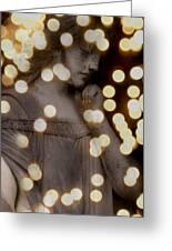 Bokeh Angel Greeting Card
