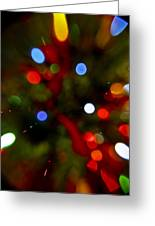 Bokeh Of Lights Greeting Card