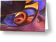 Bold Contagion Abstract Greeting Card