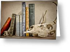 Bone Collector Library Greeting Card by Heather Applegate