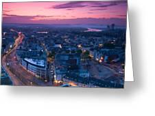 Bonn Panorama - Stadthaus Greeting Card