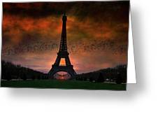 Bonsoir Paris Greeting Card