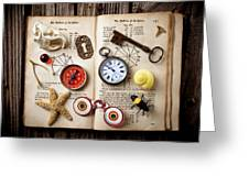 Book Of Mystery Greeting Card by Garry Gay