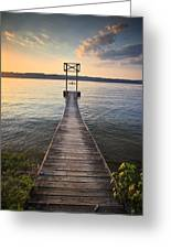 Booker T Dock 2 Greeting Card by Steven Llorca