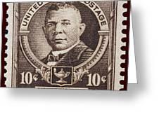 Booker T Washington Postage Stamp Greeting Card