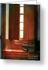 Books On A Window Seat Greeting Card