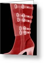 Boot, X-ray Greeting Card by Ted Kinsman