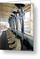 Boots, Rifles, Dog Tags, And Protective Greeting Card