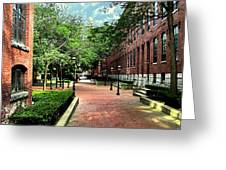 Boott Cotton Mills Courtyard 2 Greeting Card