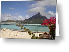 Bora Bora Private Beach Greeting Card
