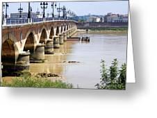 Bordeaux Bridge Greeting Card