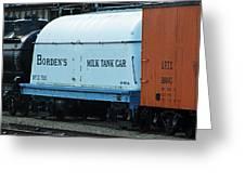 Bordens Milk Tank Car Greeting Card