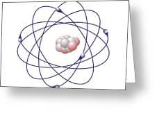 Boron, Atomic Model Greeting Card