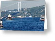 Bosphorus Traffic Greeting Card