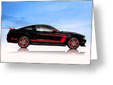 Boss Mustang Greeting Card