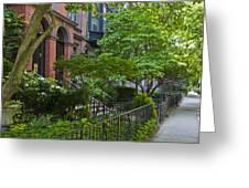 Boston Beacon Hill Street Scenery Greeting Card