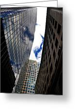Boston Blue Sky And Stone Greeting Card