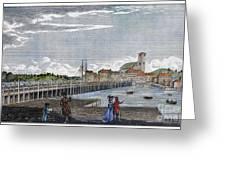 Boston: Charles River, 1789 Greeting Card