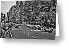 Boston City Scape Greeting Card by Dan Crosby