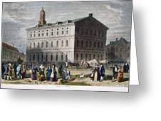 Boston: Faneuil Hall, 1776 Greeting Card