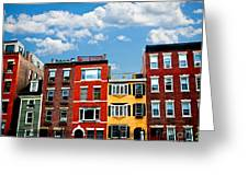Boston Houses Greeting Card by Elena Elisseeva