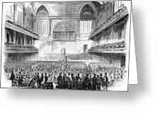 Boston: Music Hall, 1856 Greeting Card