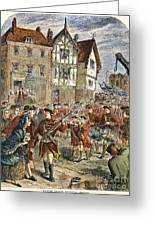 Boston: Occupation, 1768 Greeting Card