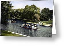 Boston: Swan Boats, C1900 Greeting Card