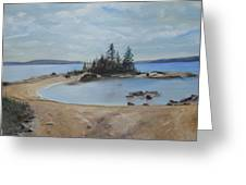 Boswell's Point-lake Superior Greeting Card