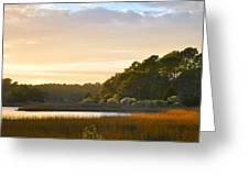 Botany Bay Sc Sunset Marsh Greeting Card by Lori Kesten