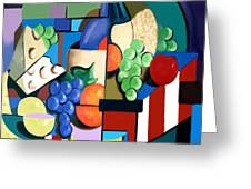 Bottle Of Wine Fruit Of The Vine Greeting Card