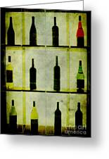 Bottles Greeting Card by Alexander Bakumenko