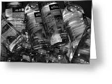 Bottles Of Water Greeting Card