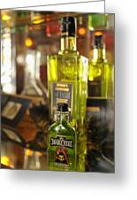Bottles With Absinthe In Bar Greeting Card