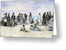 Boudin: Beach Scene, 1869 Greeting Card