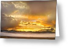 Boulder Colorado Flagstaff Fire Sunset View Greeting Card