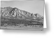 Boulder Colorado Flatiron Scenic View With Ncar Bw Greeting Card