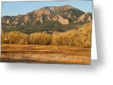 Boulder Colorado Flatiron View From Jay Rd Greeting Card