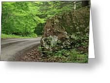 Boulder Rural Mountain Road Spring Greeting Card