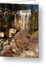 Boulders Under The Falls Greeting Card