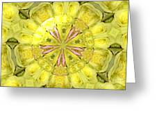 Bouquet Of Roses Kaleidoscope 12 Greeting Card