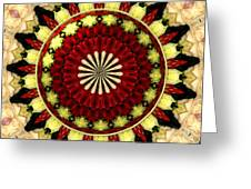 Bouquet Of Roses Kaleidoscope 5 Greeting Card