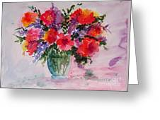 Bouquet Of Wishes Greeting Card