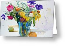 Bouquet Study With Anemones Greeting Card